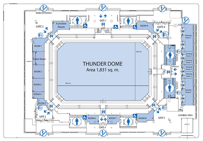 Thunder Dome 1st Floor Plan