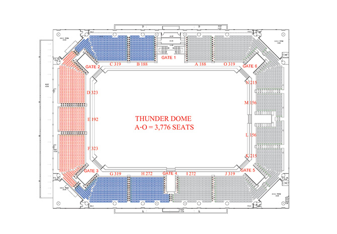 Thunder Dome 2nd Floor Plan